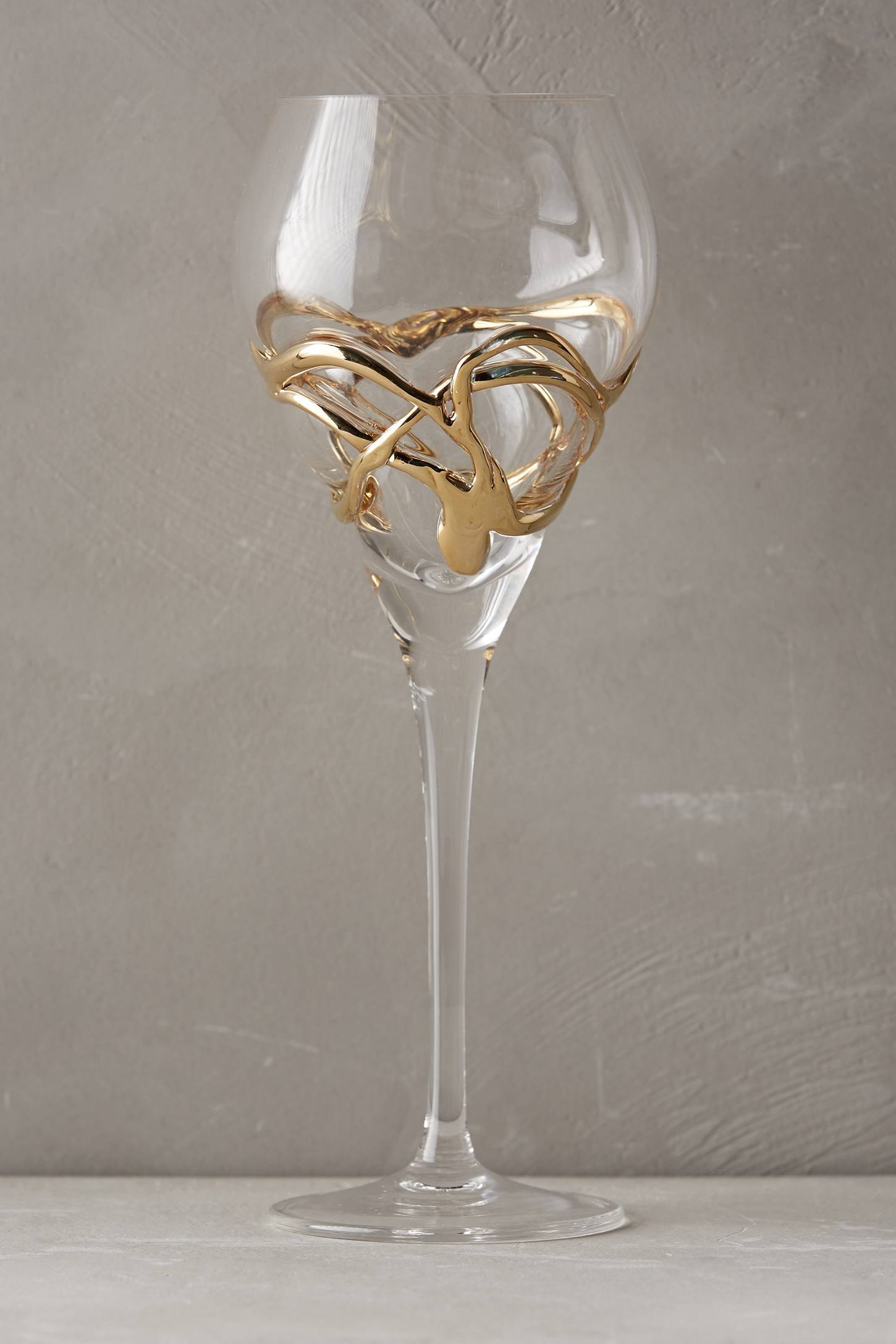 Slide View: 2: Glimmer-Wrapped White Wine Glass