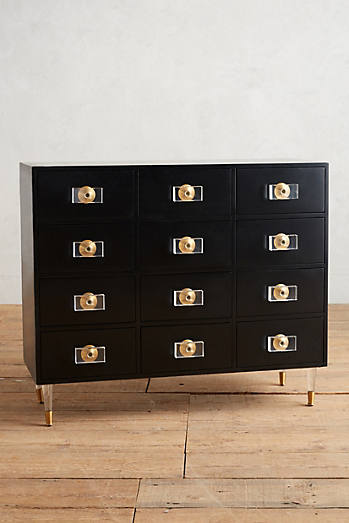 Lacquered Regency Twelve-Drawer Dresser