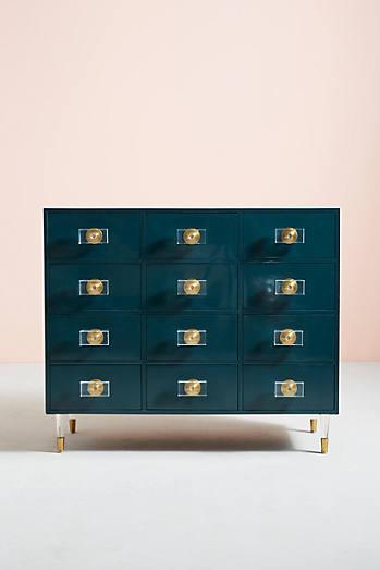 Lacquered Regency Twelve-Drawer Dresser