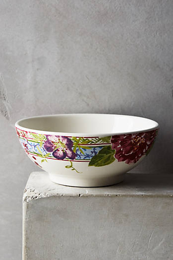 Slide View: 1: Gien Millefleurs Cereal Bowl