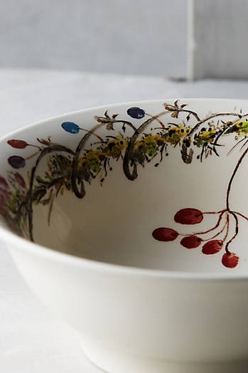 Slide View: 1: Gien Bouquet Cereal Bowl