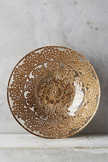Slide View: 1: Metallic Lace Bowl