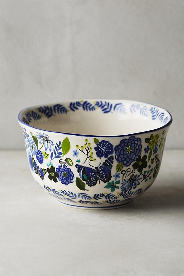 Wing & Petal Mug - Blue Motif, Size Mug