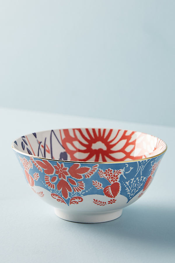 Evanie Bowl - Blue Motif, Size Cerealbowl