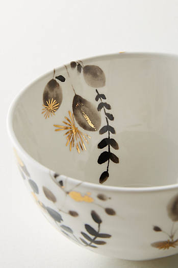 Slide View: 2: Gilded Botany Bowl