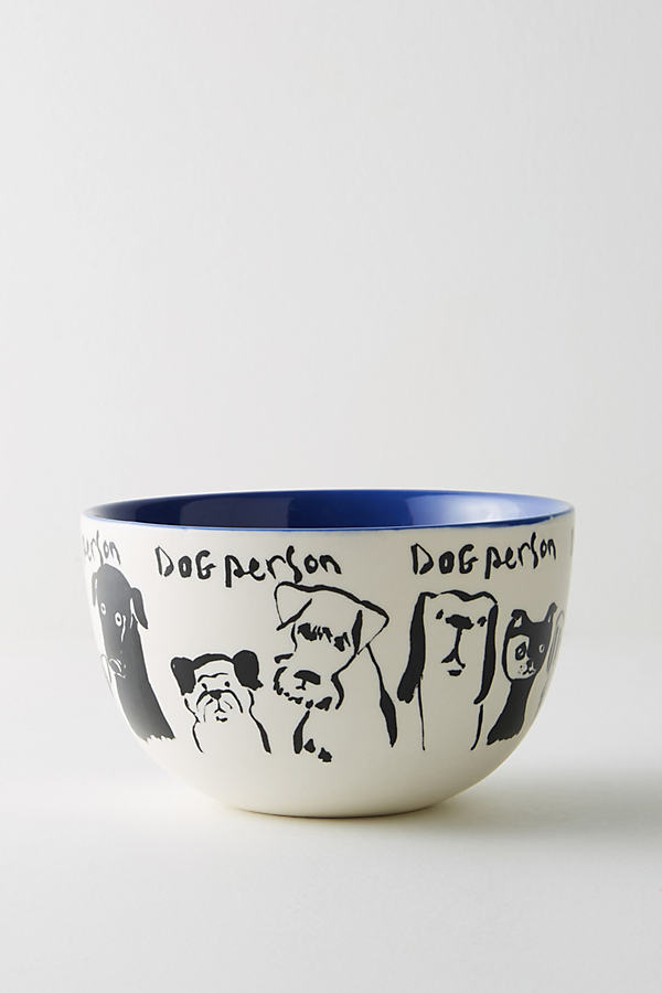 My Kind Of Person Bowl - Blue Motif, Size Cerealbowl