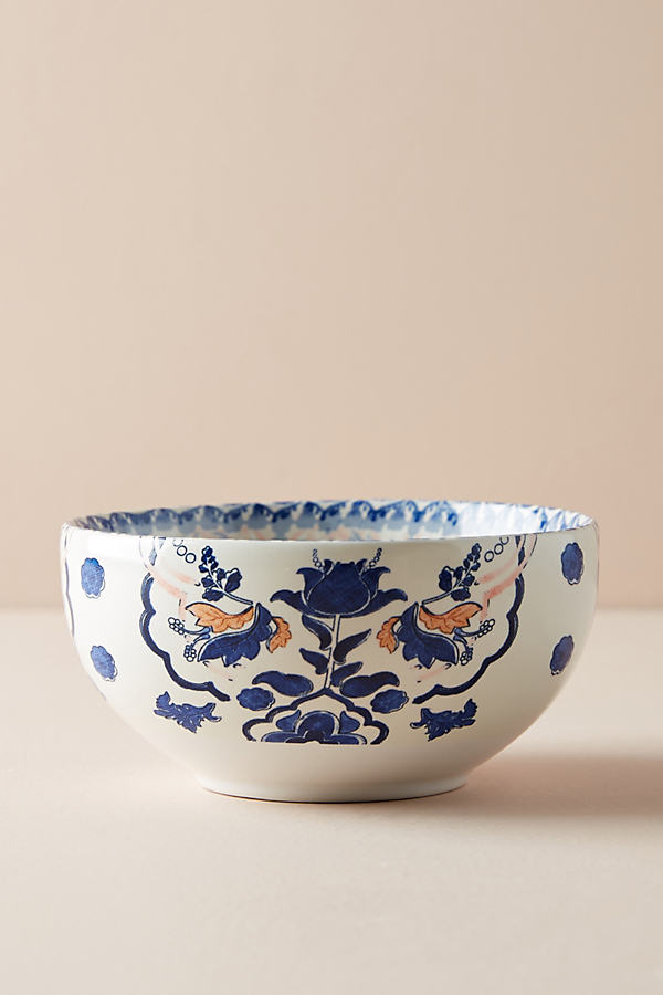 Simone Bowl - Blue Motif, Size Cerealbowl