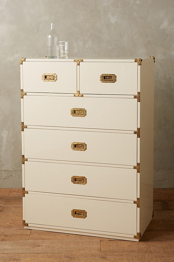 Slide View: 2: Lacquered Wellington Six-Drawer Dresser