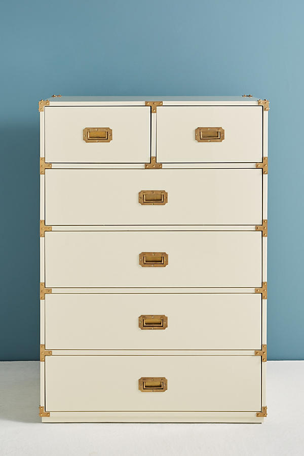 Slide View: 3: Lacquered Wellington Six-Drawer Dresser
