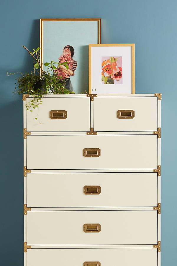 Slide View: 1: Lacquered Wellington Six-Drawer Dresser