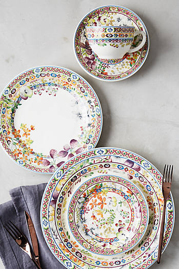 Slide View: 1: Gien Bagatelle Five-Piece Place Setting