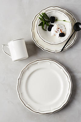 Slide View: 1: Gien Filet Bleu Four-Piece Place Setting