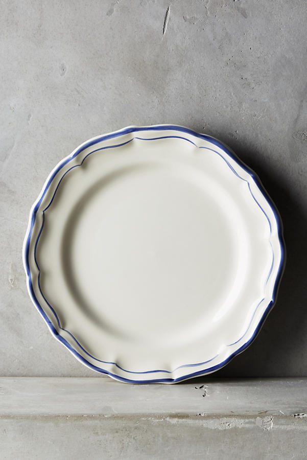 Gien Filet Bleu Four-Piece Place Setting