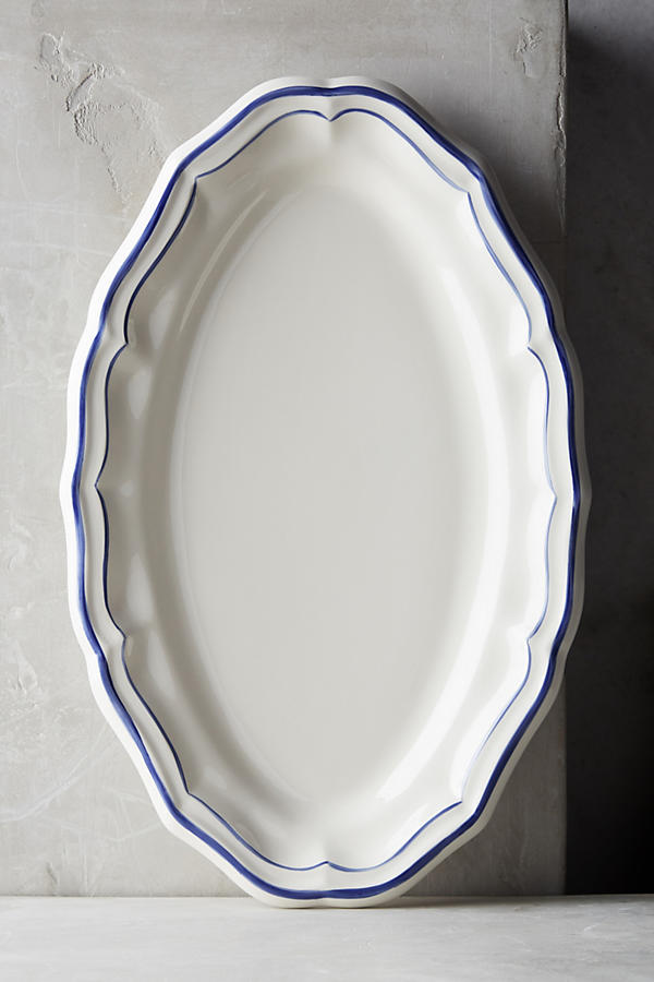 Gien Filet Bleu Platter