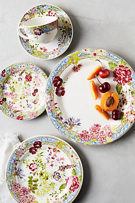 Slide View: 1: Gien Millefleurs Five-Piece Place Setting