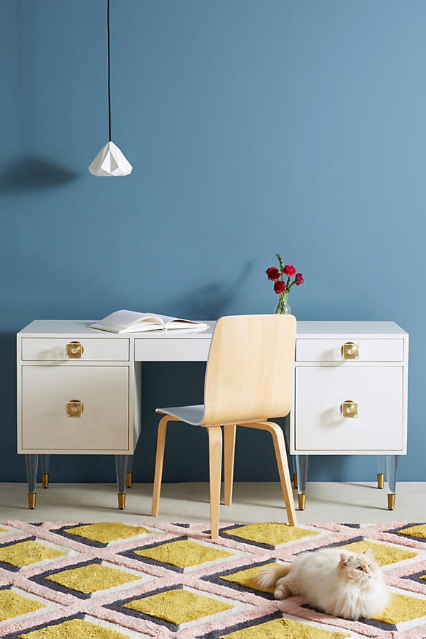 Slide View: 1: Lacquered Regency Desk