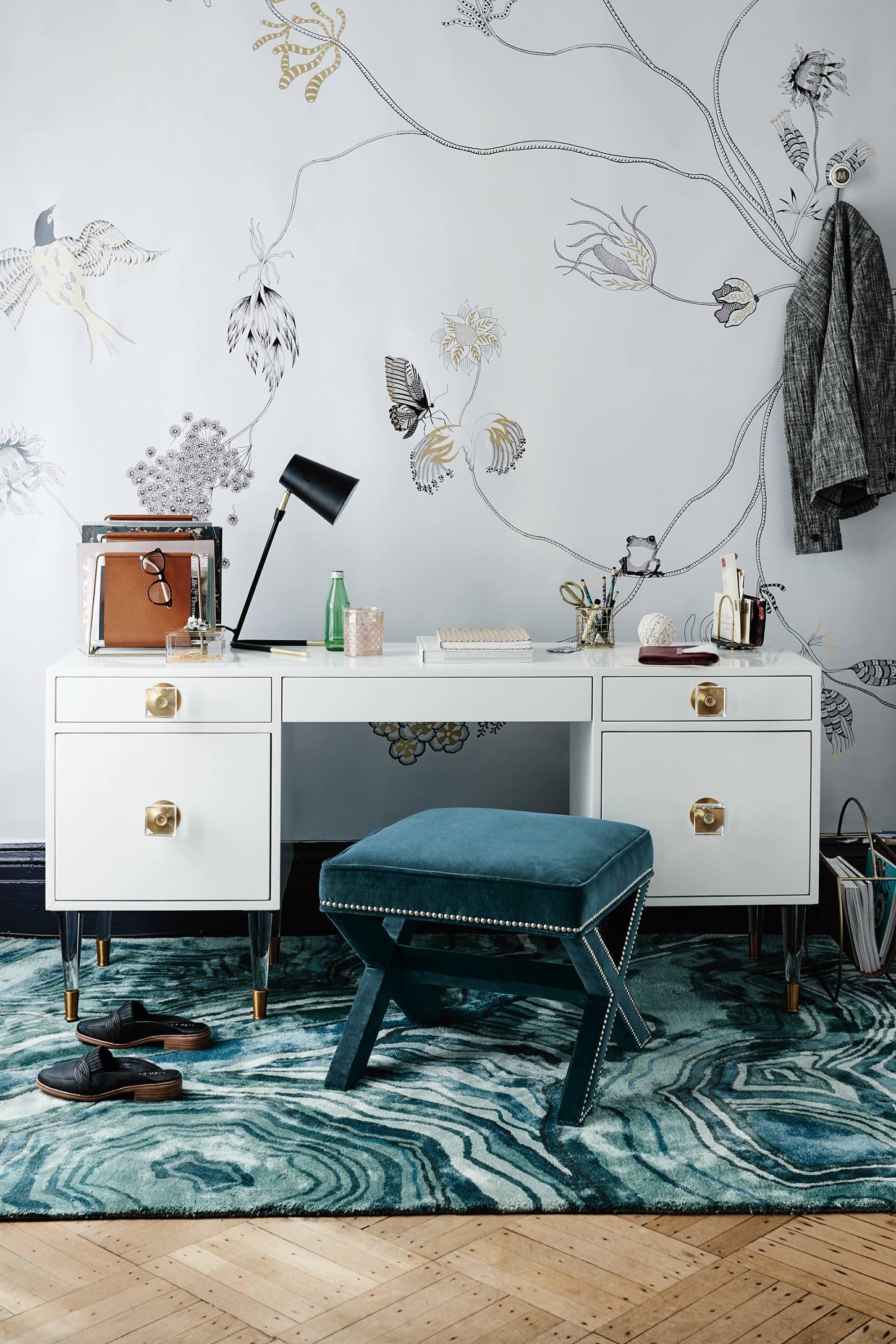 Anthropologie living room - Lacquered Regency Desk Anthropologie Anthropologie Living Room