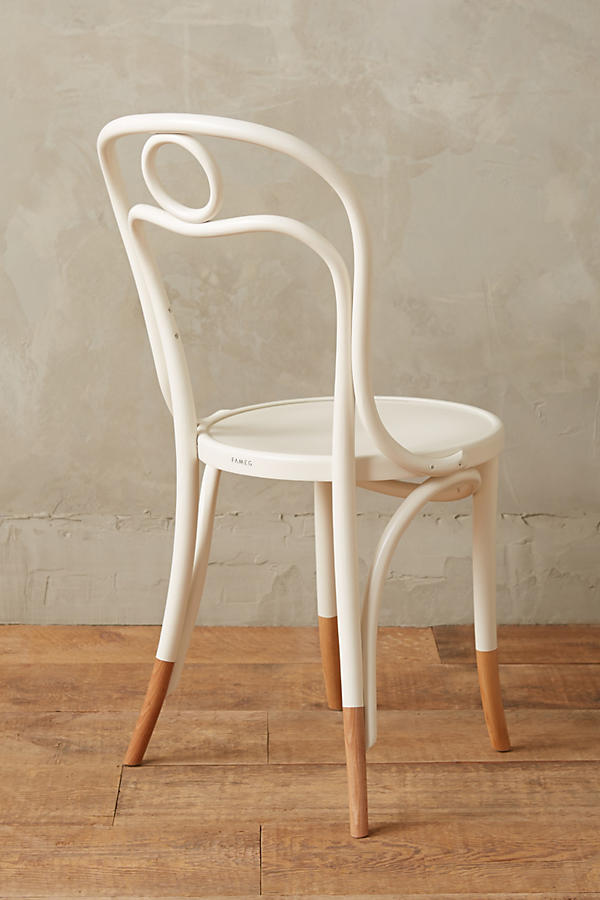 Slide View: 2: Scrolled Bentwood Dining Chair, Circle