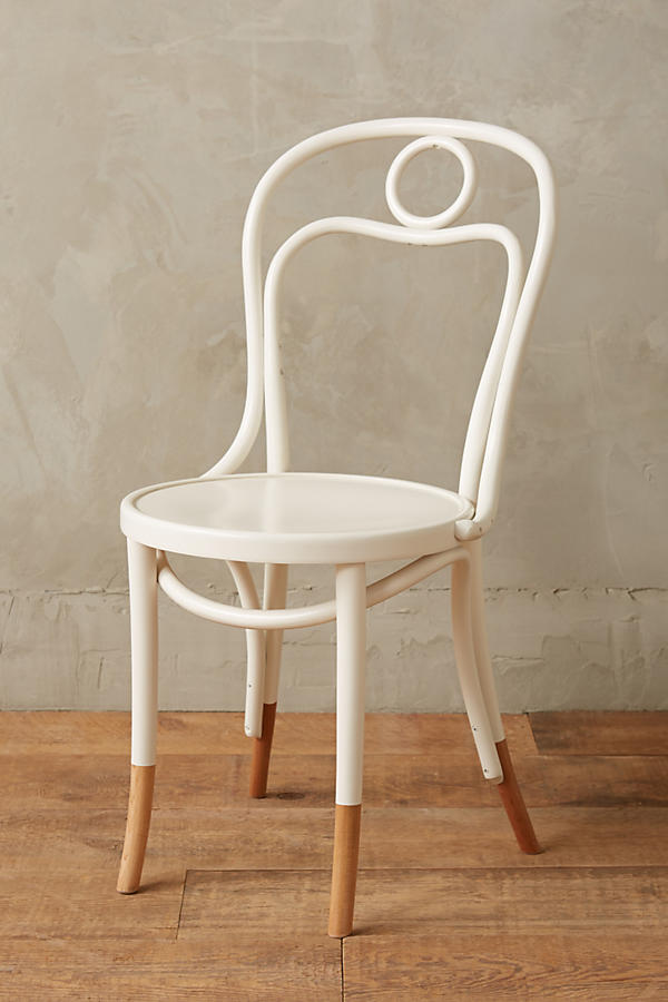 Slide View: 1: Scrolled Bentwood Dining Chair, Circle