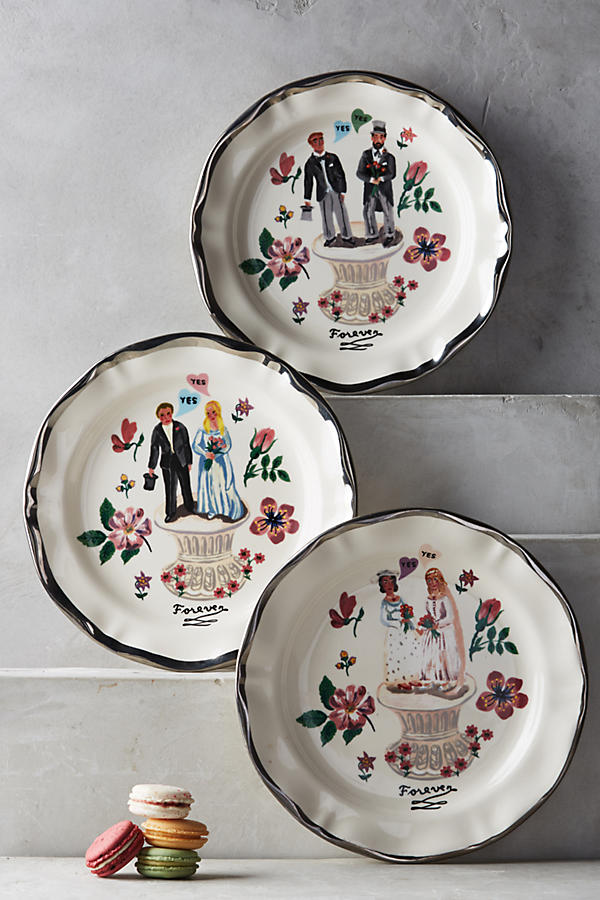 Slide View: 3: Francophile Dinner Plate