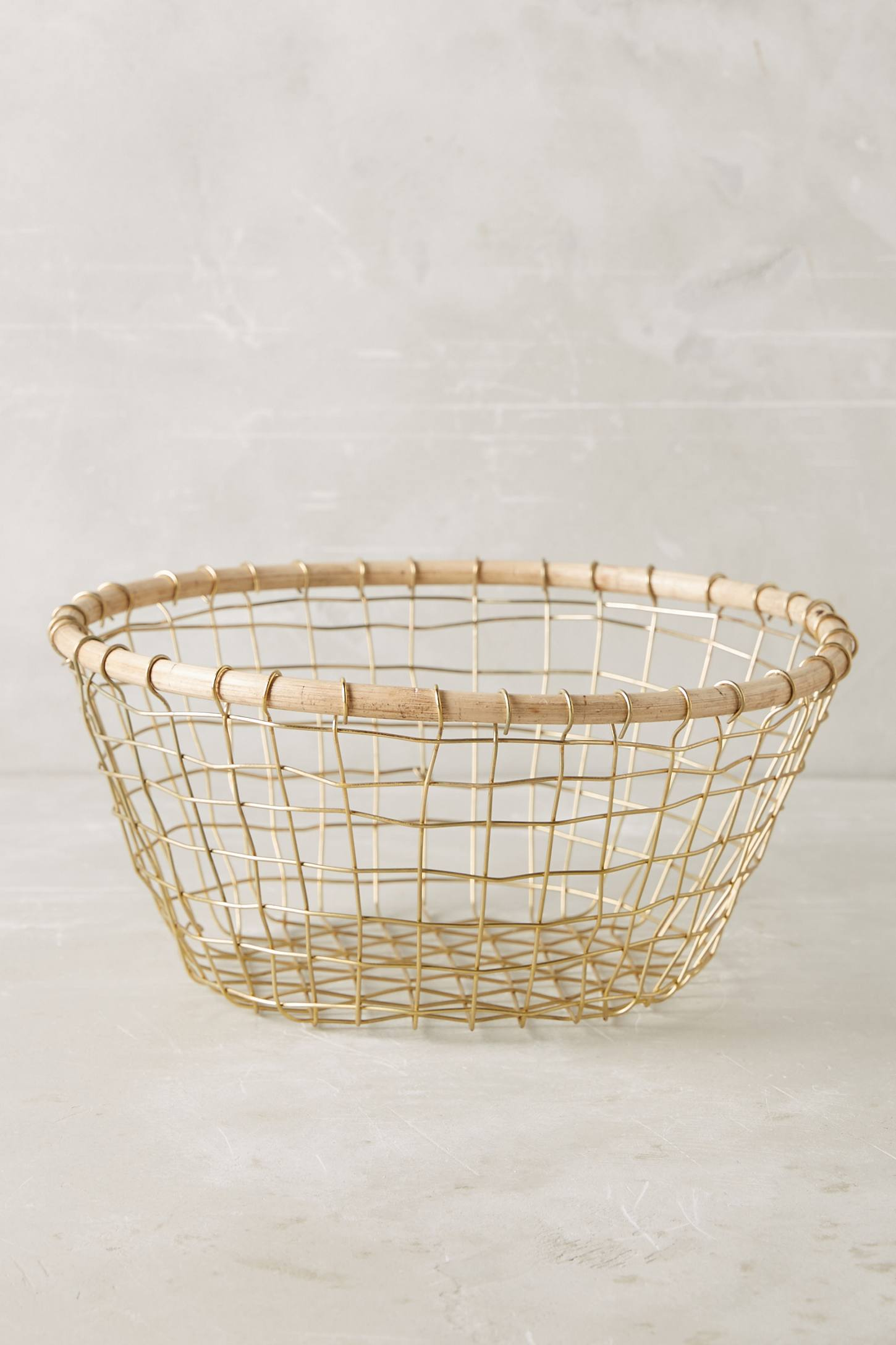 Slide View: 2: Brushed Wire Fruit Bowl