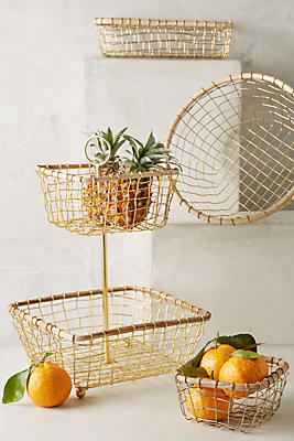 Slide View: 1: Brushed Wire Fruit Bowl