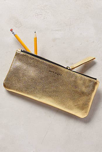 Metallic Idiom Pencil Case