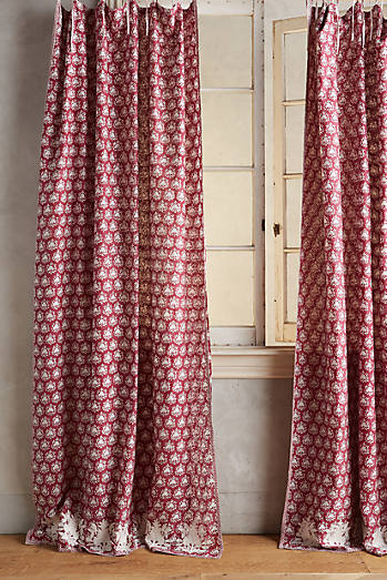 Embroidered Sari Silk Curtain