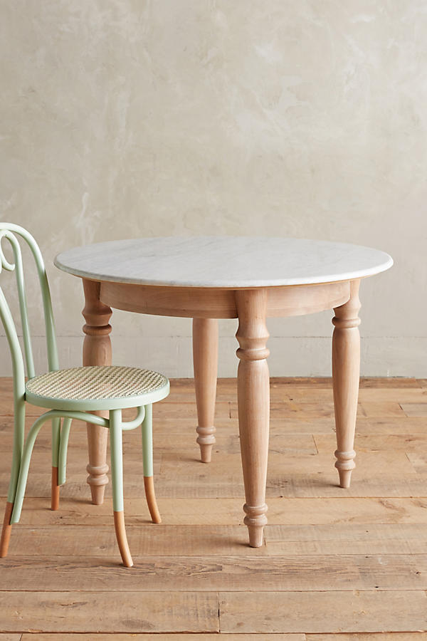 Polished Marble Dining Table, Round